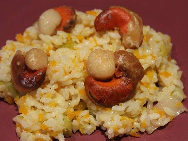recettes de risotto et st jacques