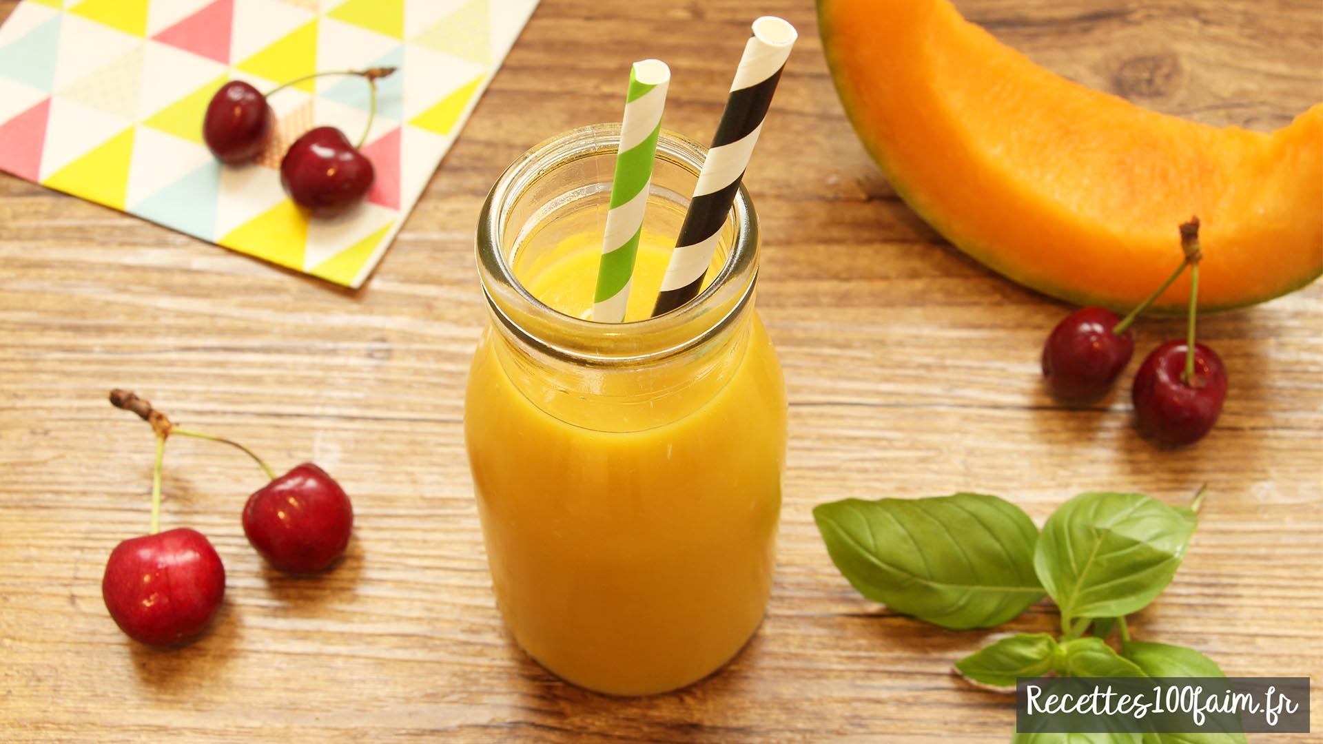 Un jus original à base de melon et de cerises