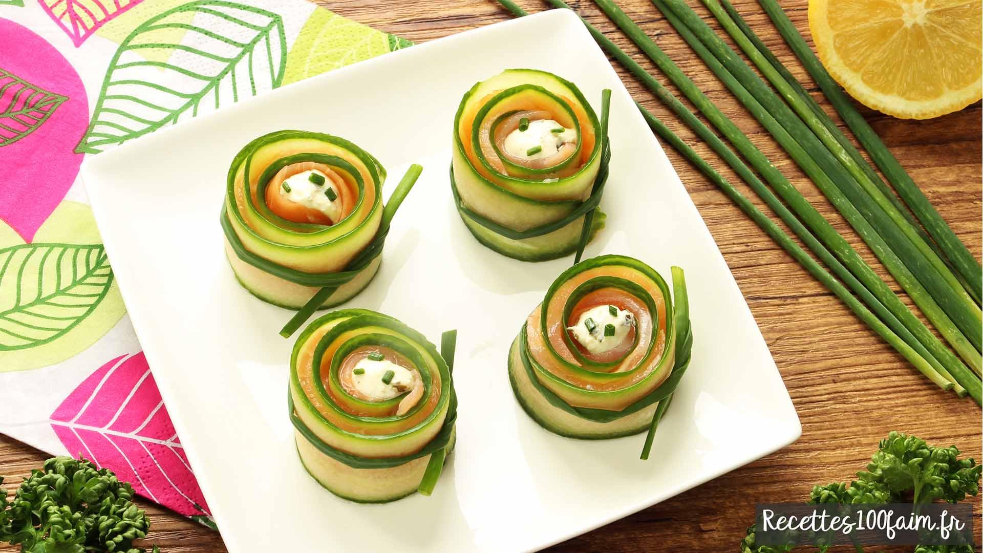 roulés concombre saumon