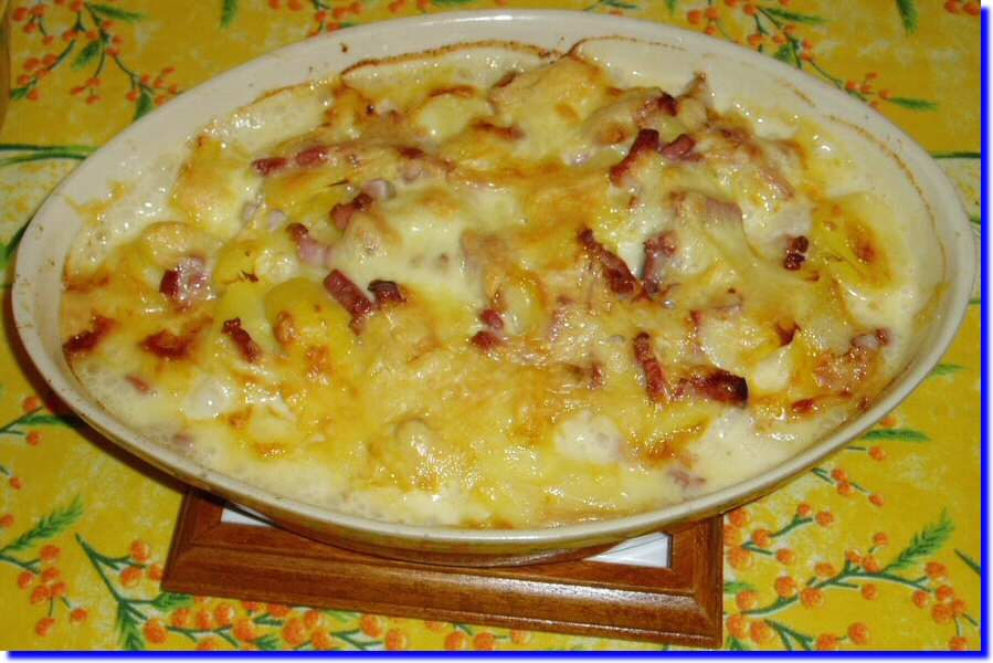 tartiflette au fromage raclette a la moutarde