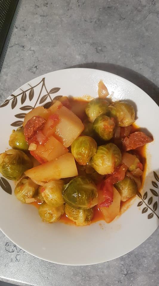 Choux De Bruxelles Cookeo : choux, bruxelles, cookeo, Choux, Bruxelles,, Pommes, Terre, Chorizo, Recettes, Cookeo