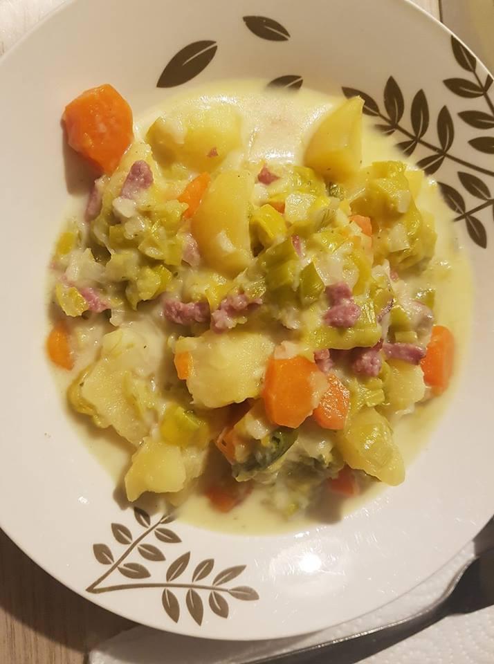 Soupe Poireau Carotte Pomme De Terre : soupe, poireau, carotte, pomme, terre, Fondue, Poireau,, Carotte,, Pomme, Terre, Bacon, Recettes, Cookeo