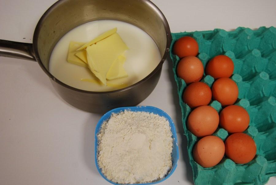Pâte à choux avec craquelin