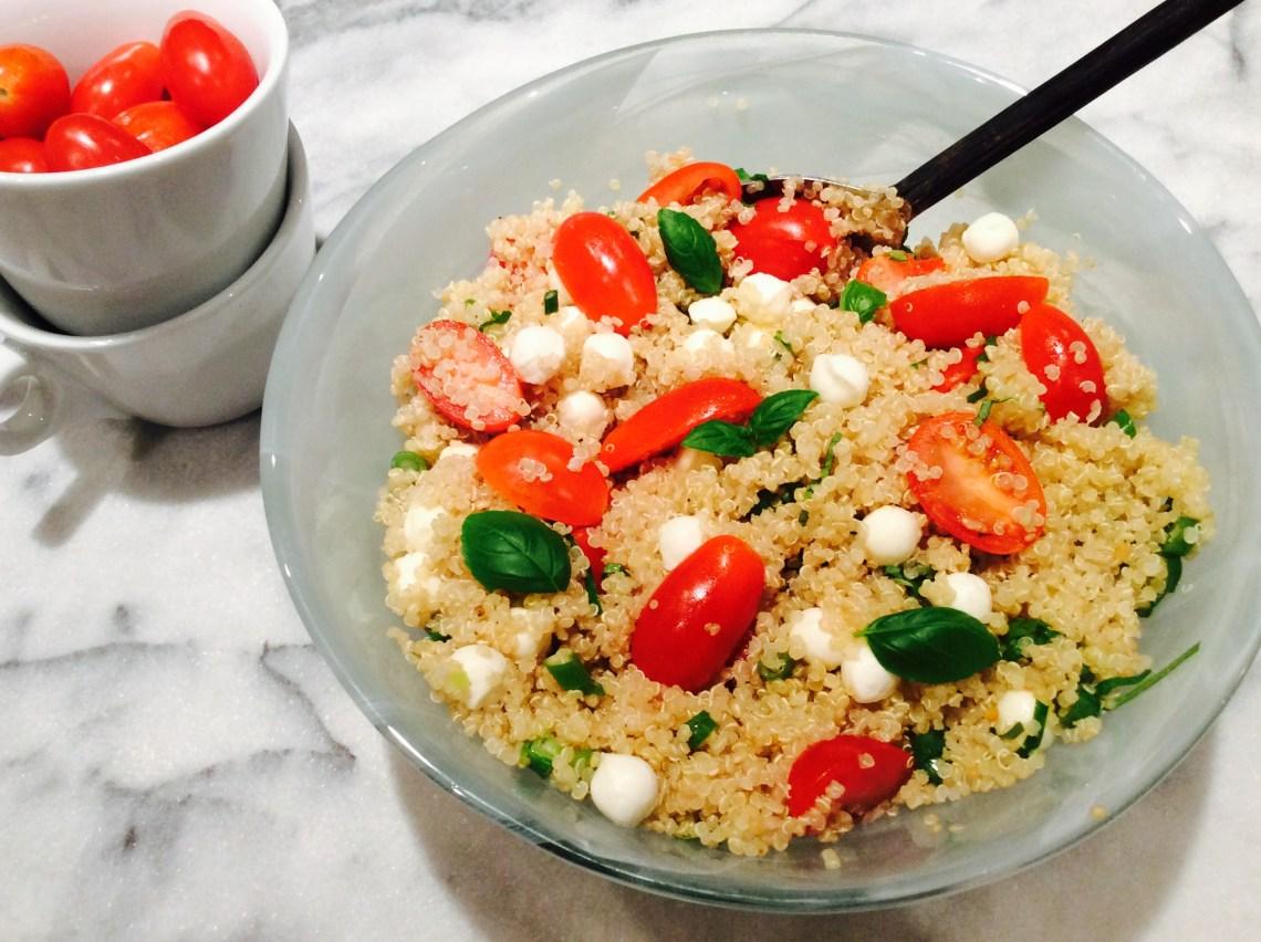 Salade quinoa tomates bocconcicni