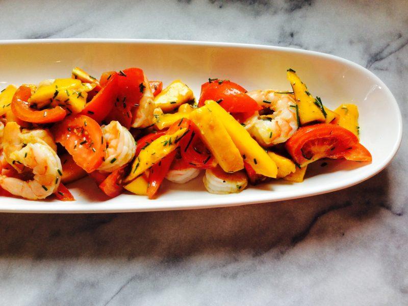 #recettesalade #recettesante #recettecrevette #recettebuffet #recettesalademangues