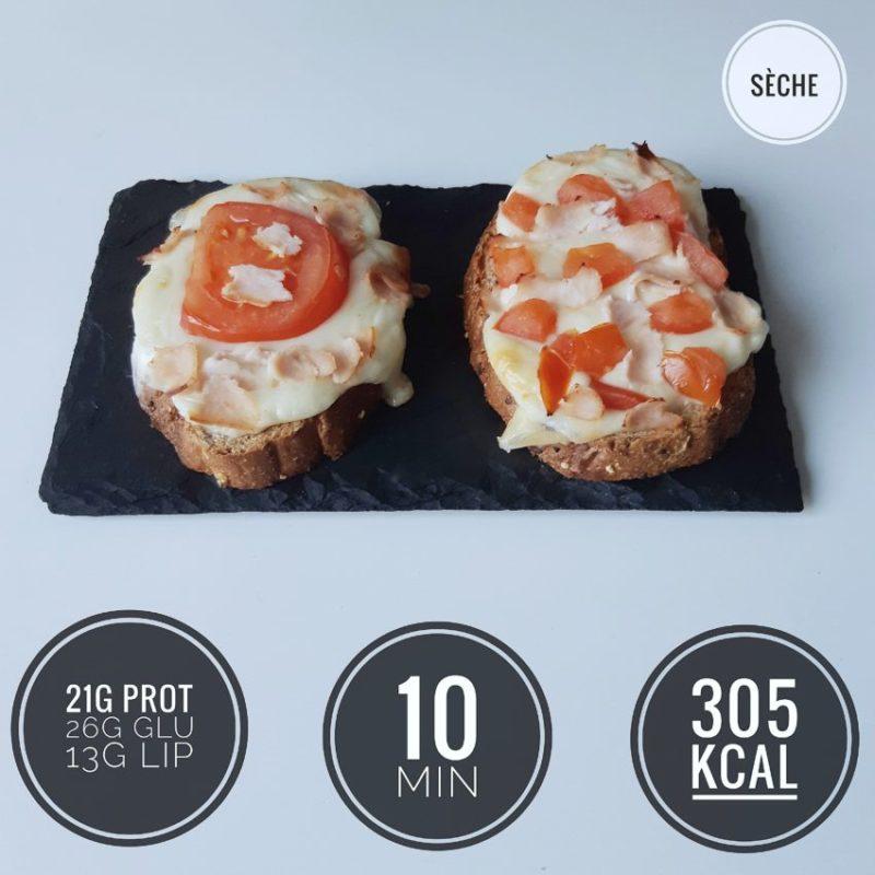 toasts tomate mozzarella healthy
