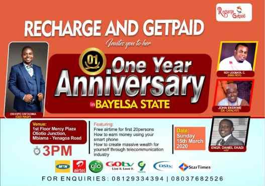 RAGP Bayelsa Anniversary Event