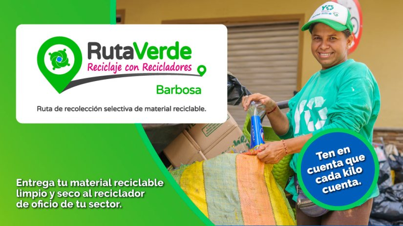 ruta verde barbosa, recimed, recicladores
