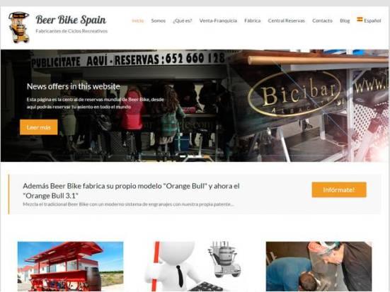 Web Beer Bike Spain