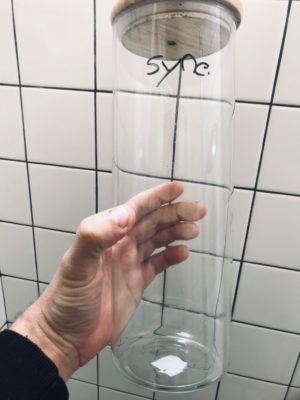 Réacteur à phytoplancton de 2 litres vide