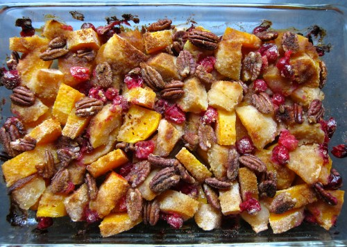 butternut squash apple bake, butternut squash, squash, squash recipe, baked squash, festive squash recipe, recipe, recipes, side dish, side dish recipe, squash dessert, apple and squash bake, food