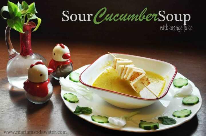 hot cucumber soup recipe