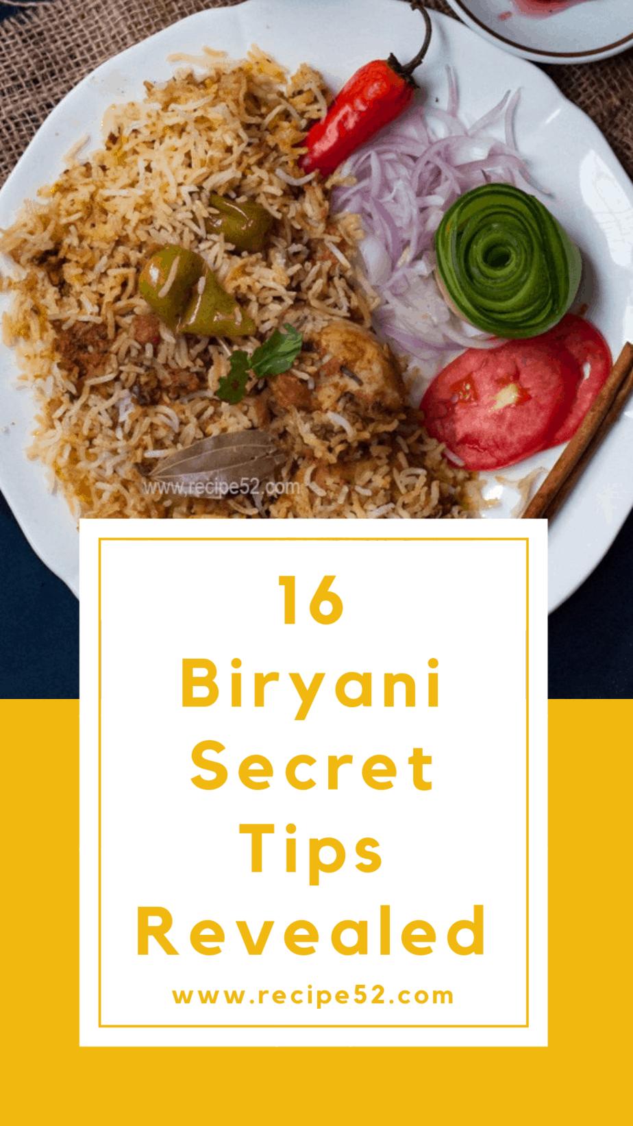 16 Best Biryani Secret Tips Revealed | Recipe52 com