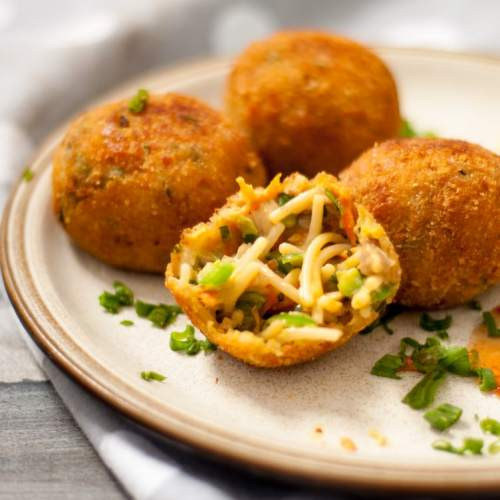 cheesy spaghetti balls recipe