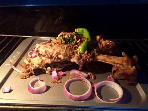 mutton leg roast in oven