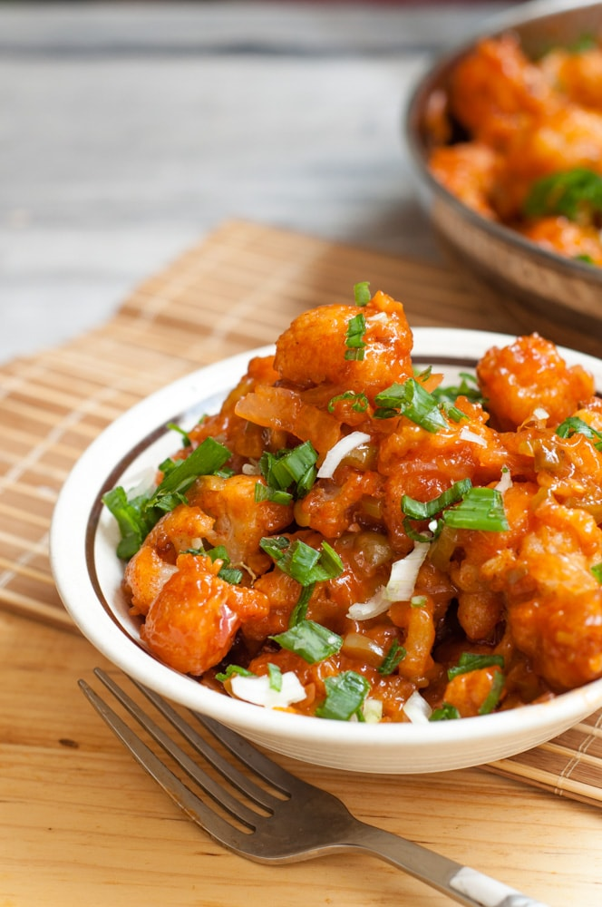 Gobi Manchurian served in bowl.