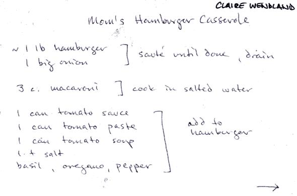 Mom's Hamburger Casserole