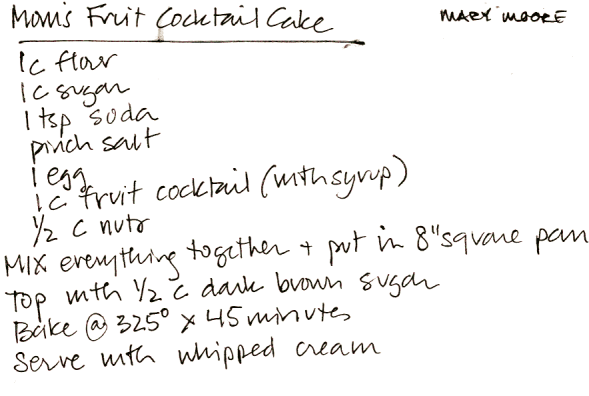 Mom's Fruit Cocktail Cake