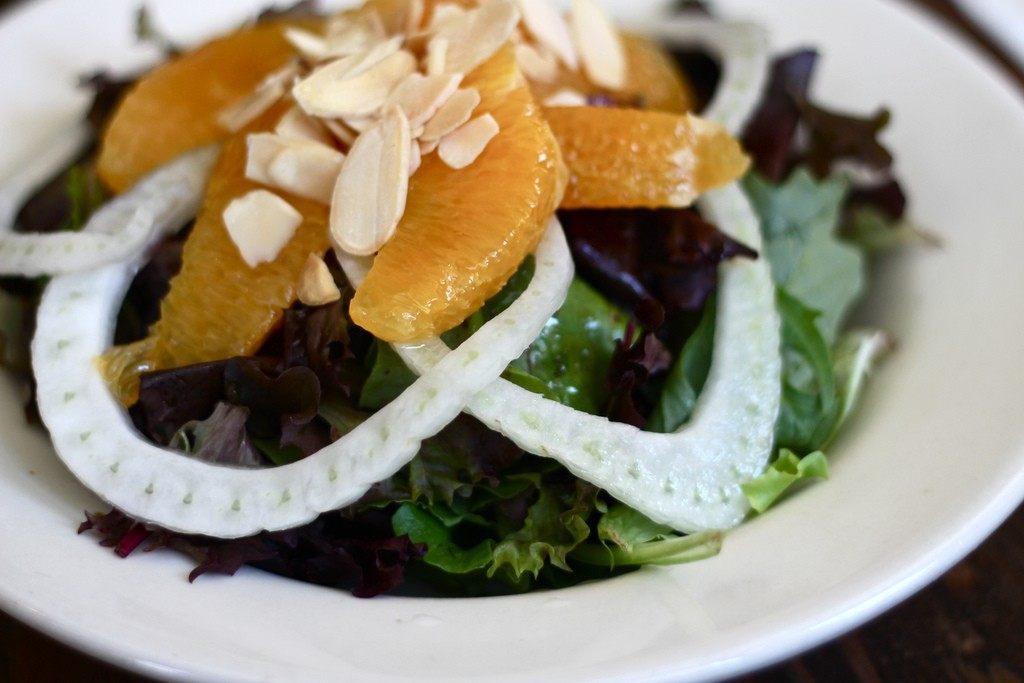 Almond Orange Salad, photo by Summer Higgins