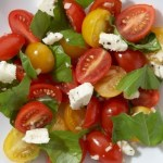 Tomato Basil and Feta Summer Salad,Photo by neenahkay, Flickr commons