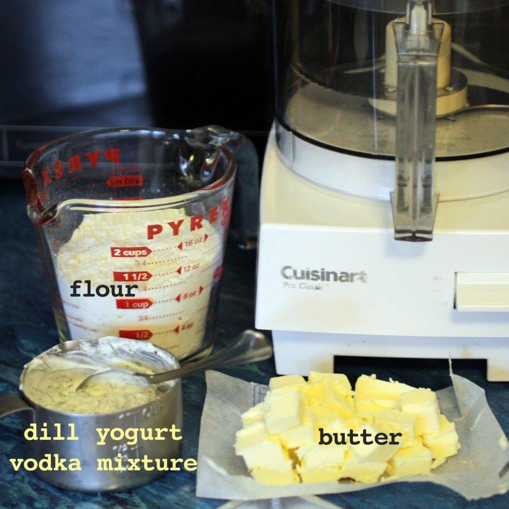 ingredients for dill yogurt crust