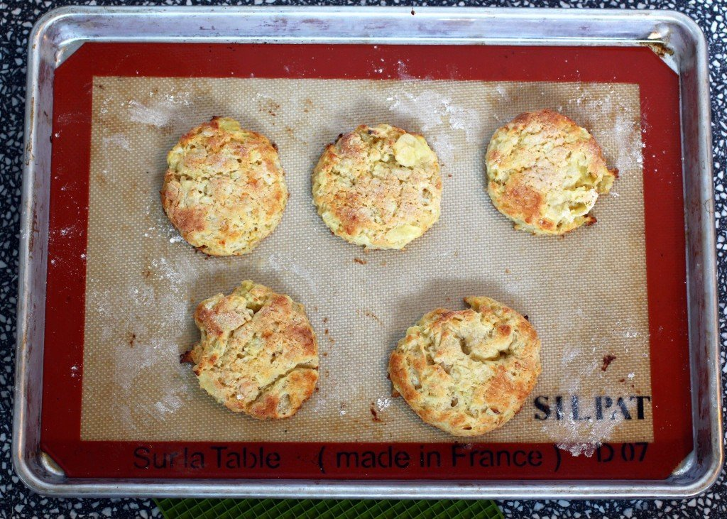 apple onion biscuit scones with sharp cheddar