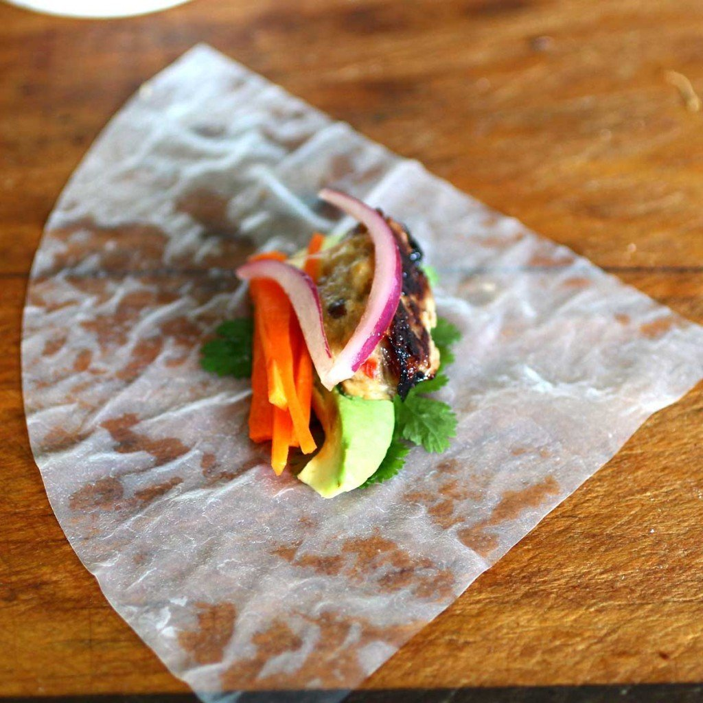 Lemongrass Shiitake Mushroom Ground Pork wrap