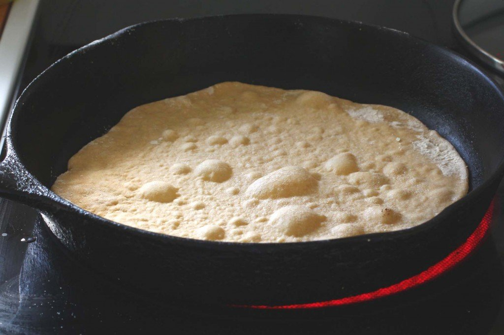 cooking homemade whole wheat  flour tortillas