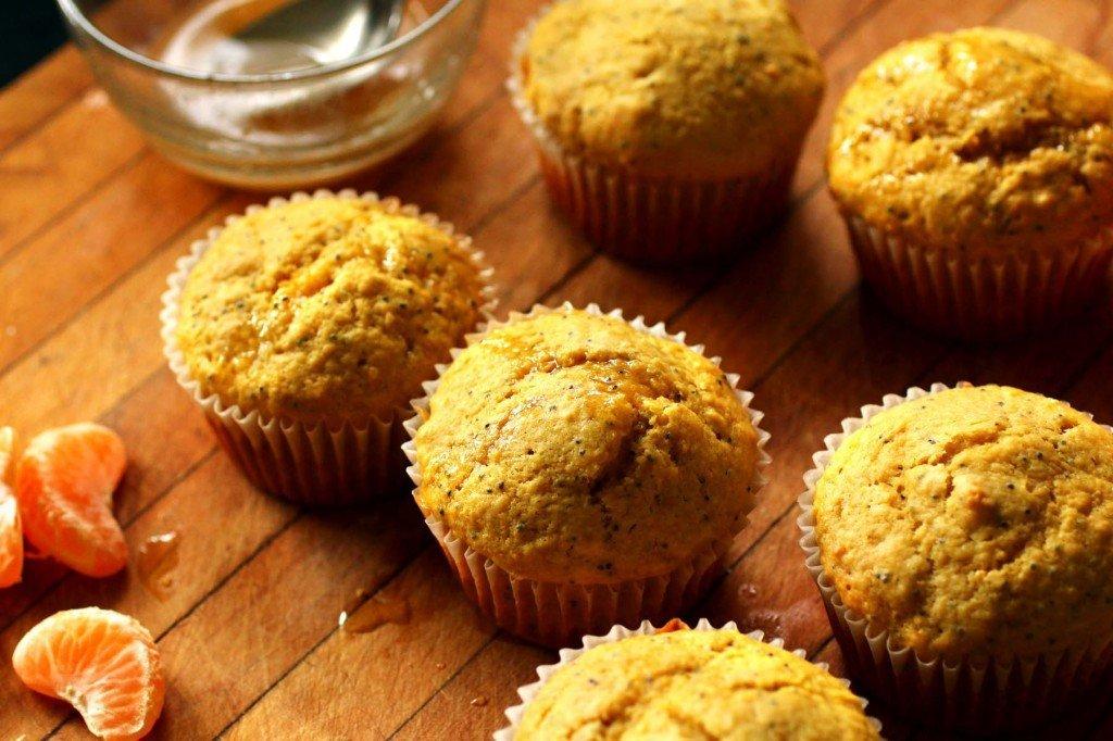 Orange Rooibos Muffins with mandarin orange glaze www.recipefiction.com
