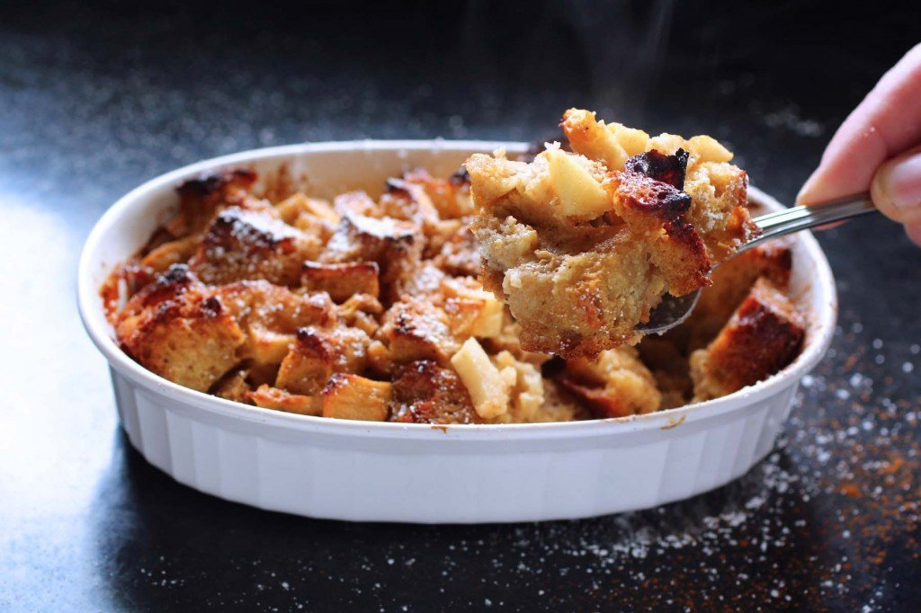 spiced apple french toast bake