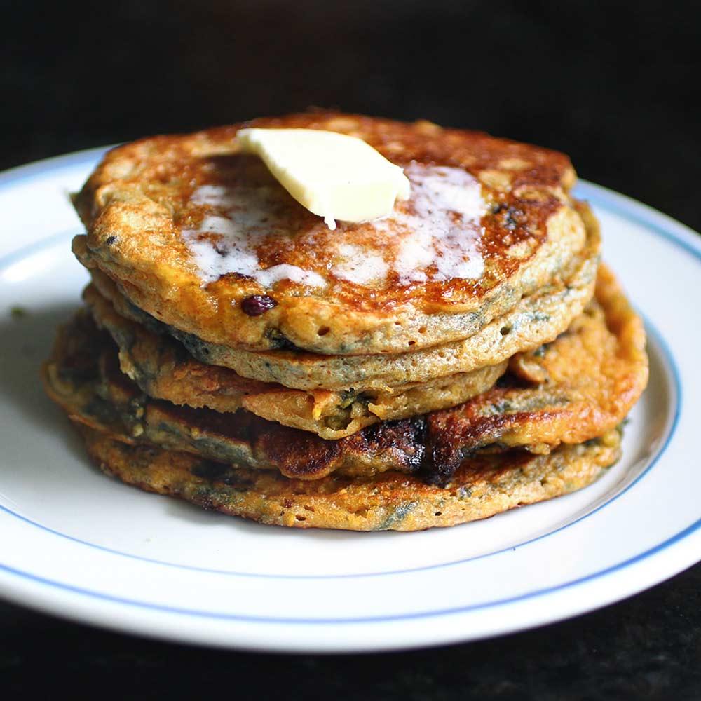 cornmeal blueberry pancakes