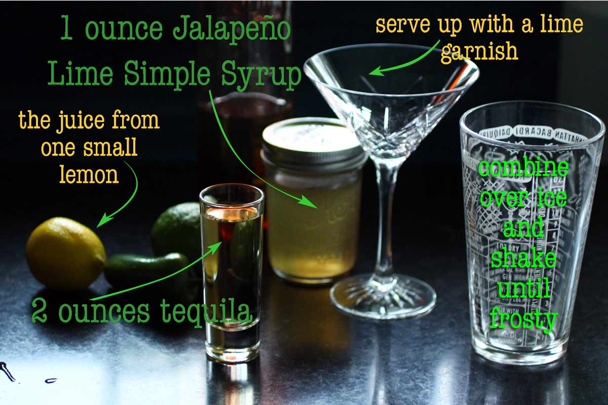 Jalapeño Lime Tequila cocktail