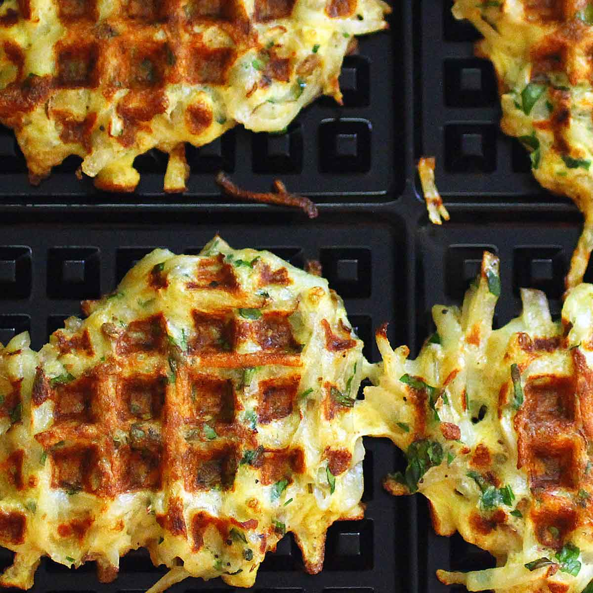 Spring Herb Waffle Latkes