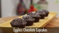 eggless chocolate cupcake