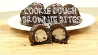 eggless cookie dough chocolate brownie