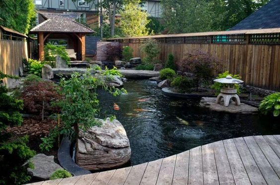 koi pond landscaping 4