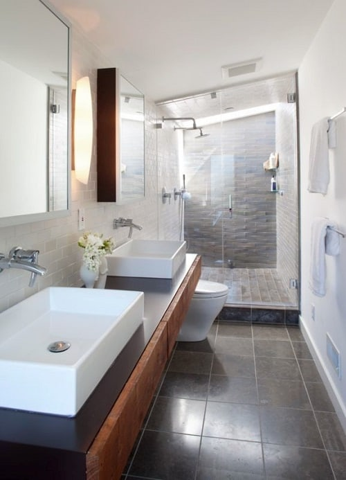 long narrow bathroom 15