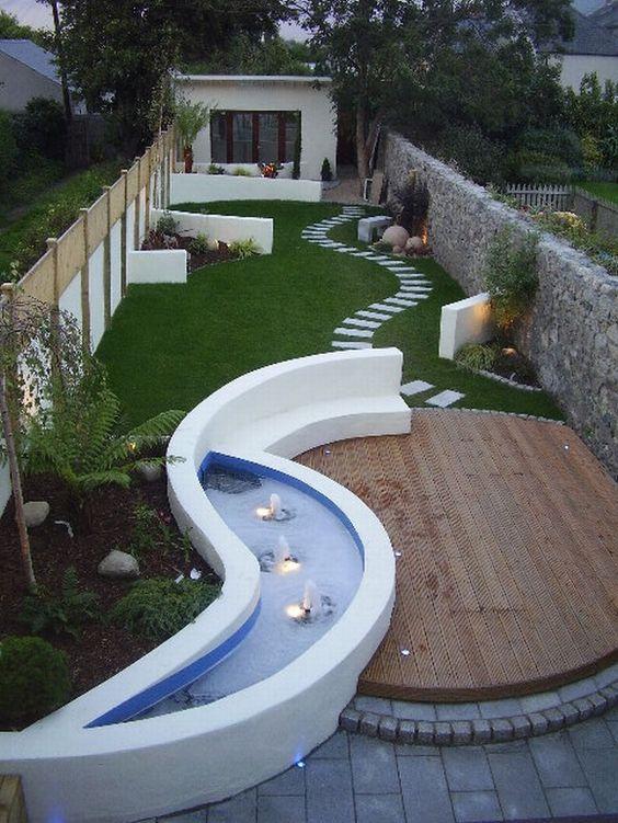minimalist backyard garden 17