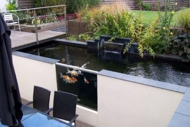 minimalist pond feature