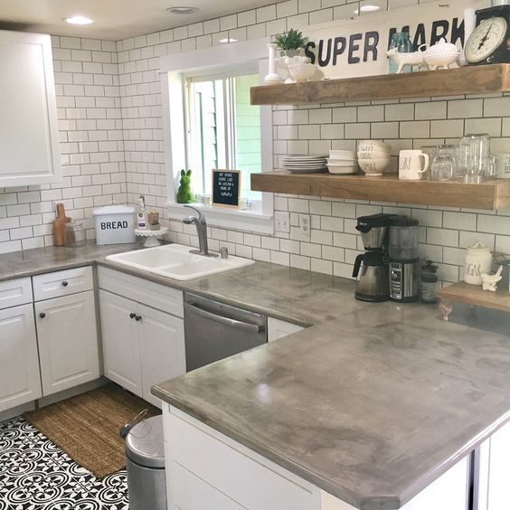 Kitchen Countertop on a Budget 12