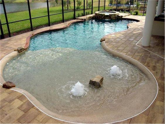 beach entry pool 8