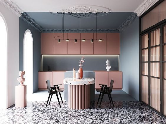 blush pink kitchen 13