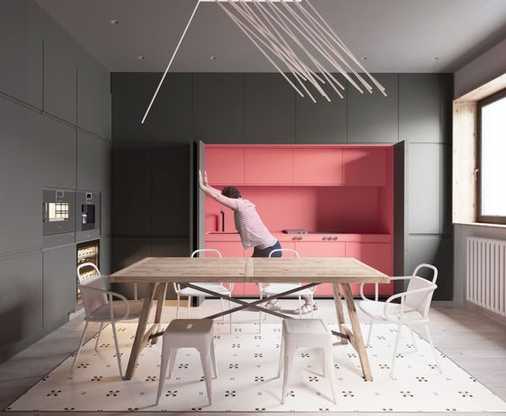blush pink kitchen 14