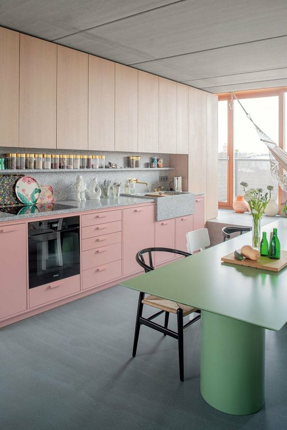 blush pink kitchen 15