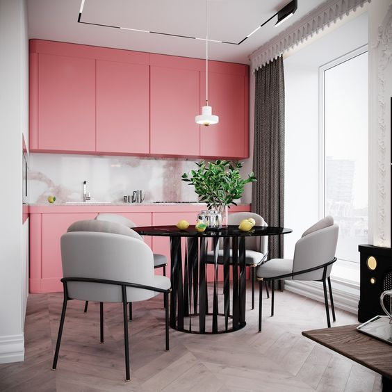 blush pink kitchen 3