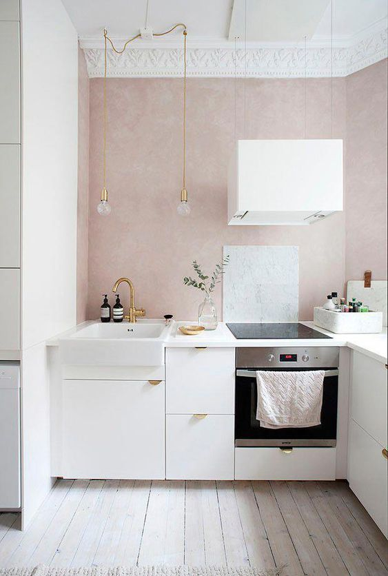 blush pink kitchen 6