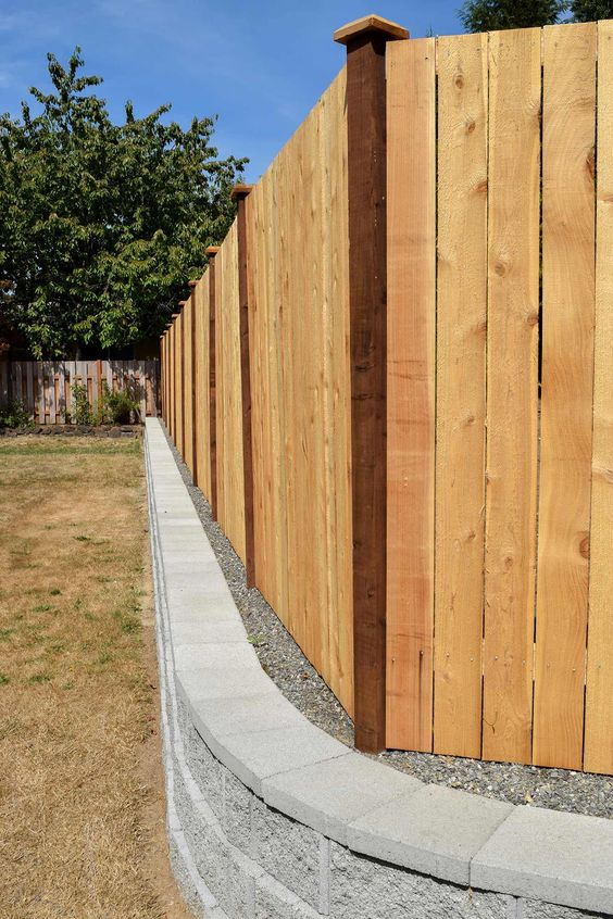 cedar fencing ideas 14