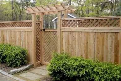 cedar fencing ideas feature