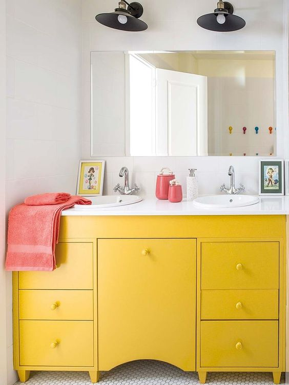 colored bathroom vanity 1
