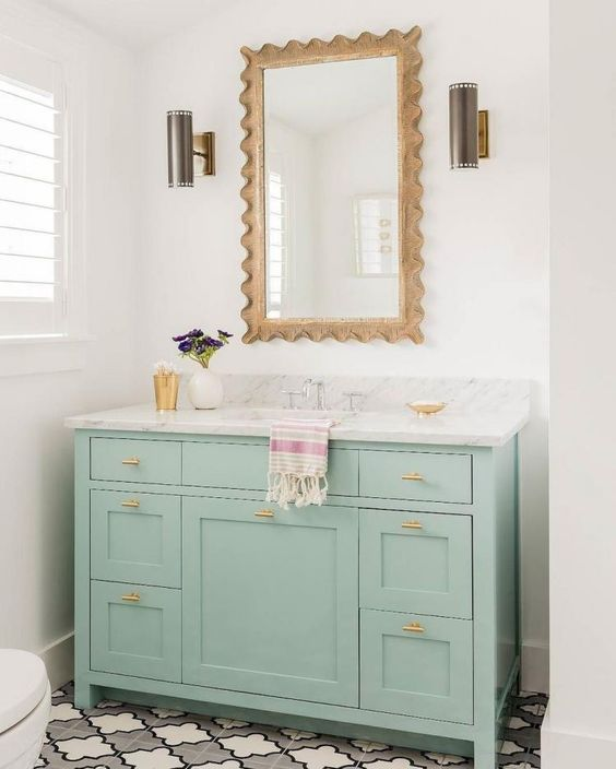 colored bathroom vanity 11